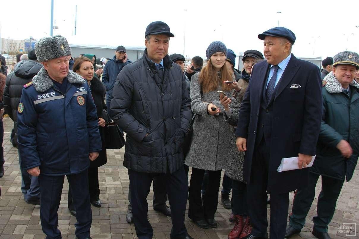 Аким Астаны Асет Исекешев посетил учения в ТРЦ