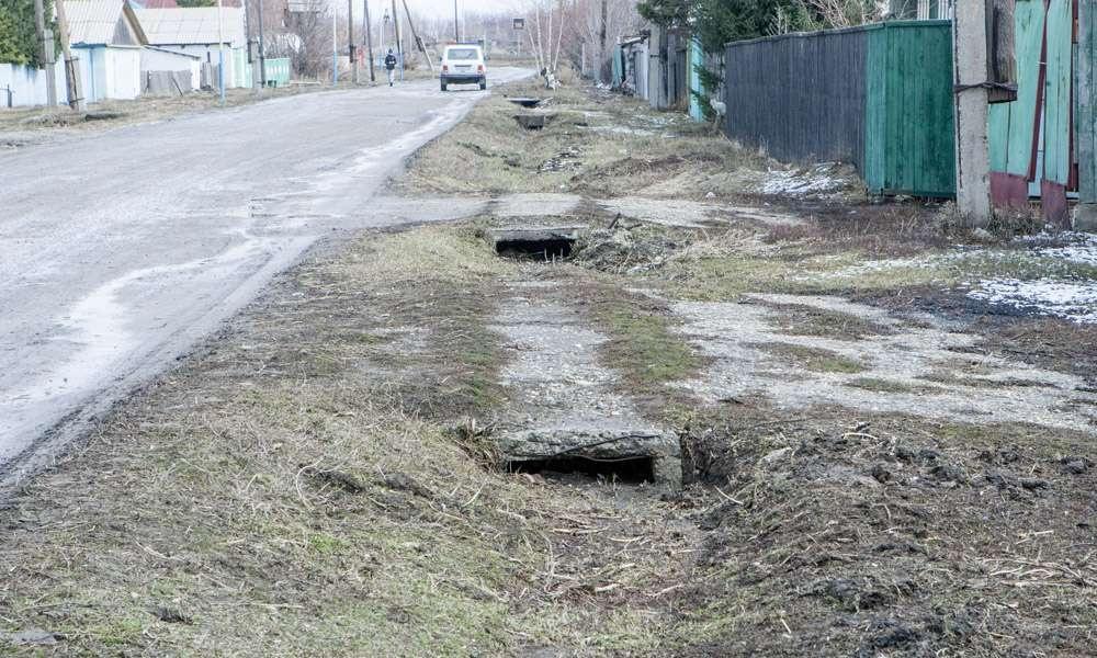 Село Прогресс после паводка