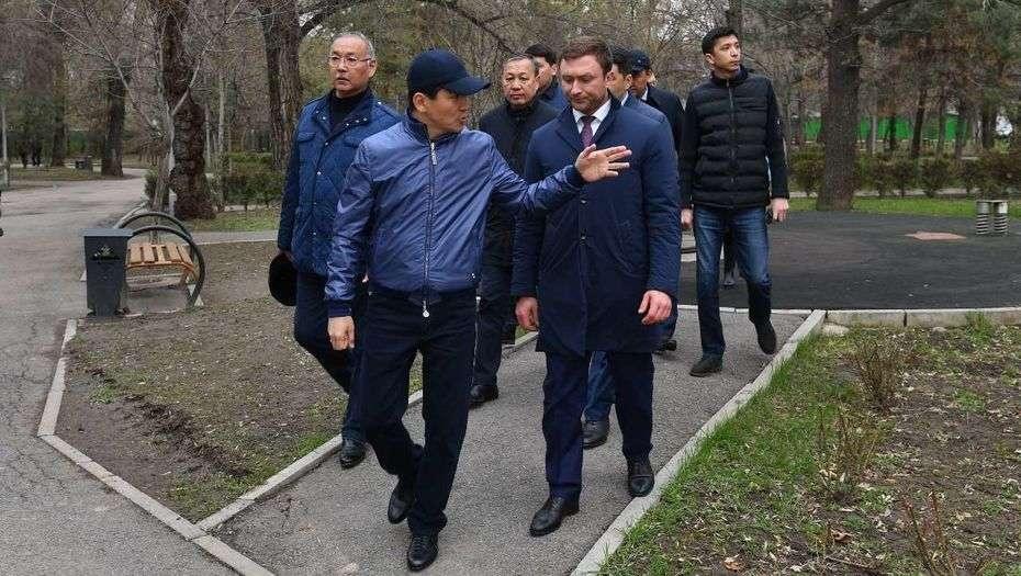 Бауыржан Байбек в Турксибском районе Алматы