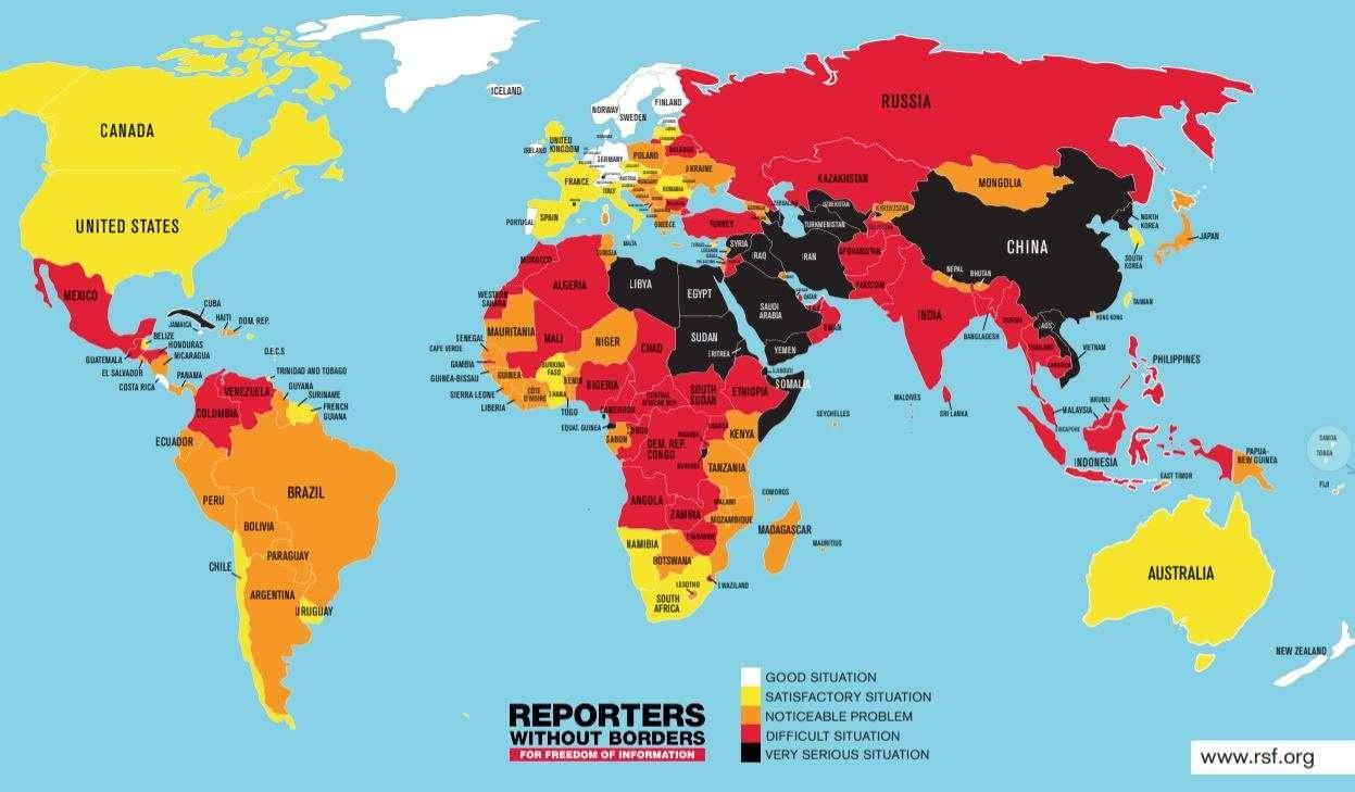 Индекс свободы прессы 2018