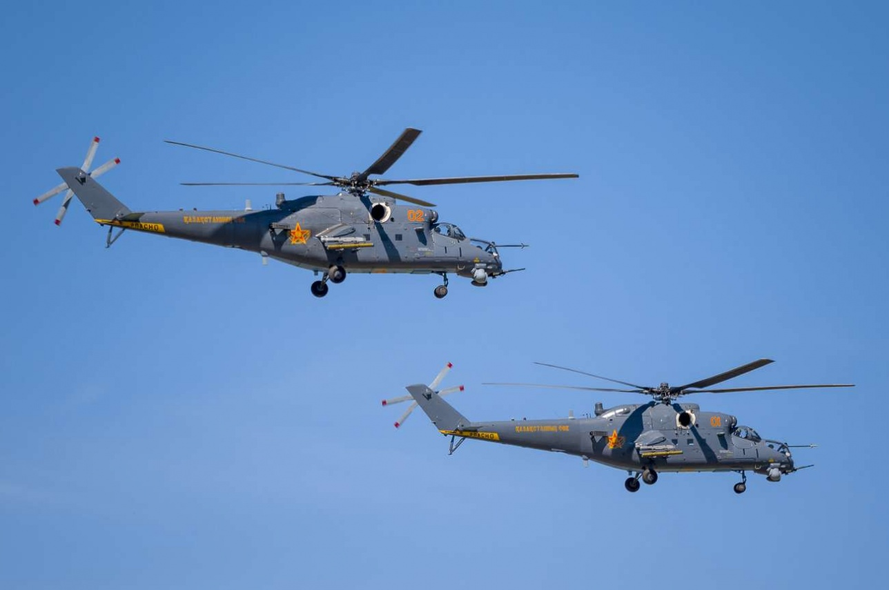 Ударные вертолёты Ми-35М – одно из новых приобретений казахстанских военно-воздушных сил