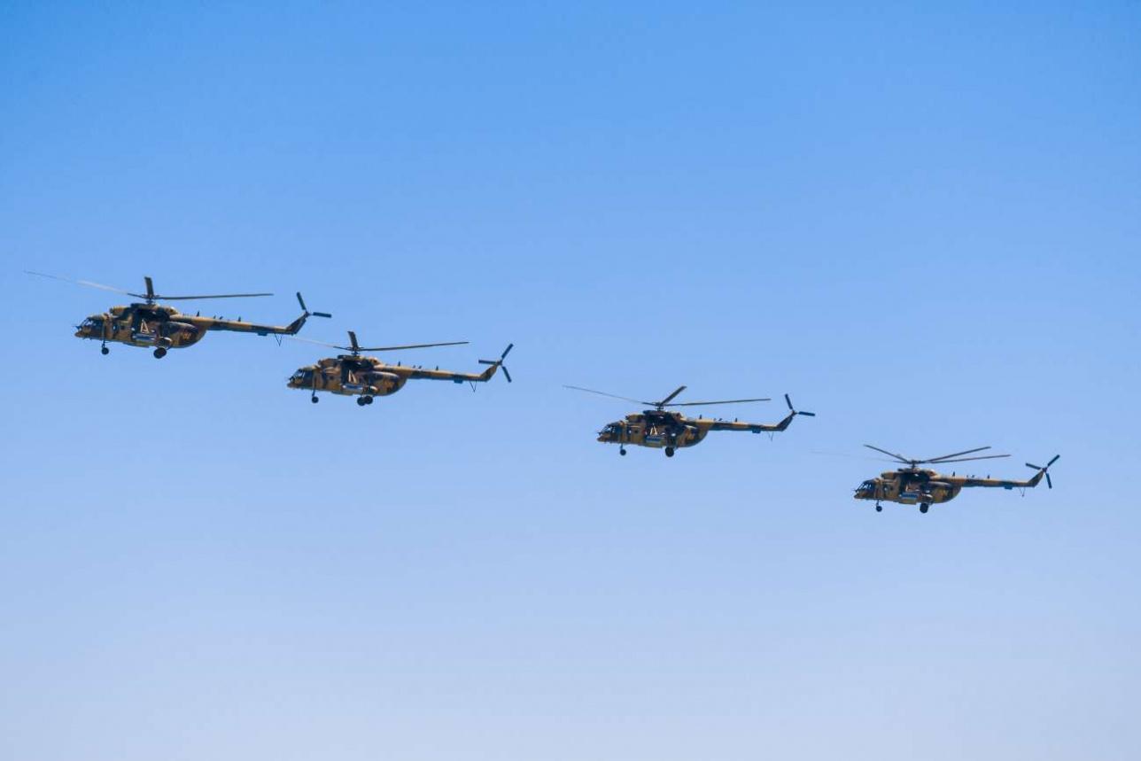 Транспортно-боевые МИ-171Ш базируются в Шымкенте