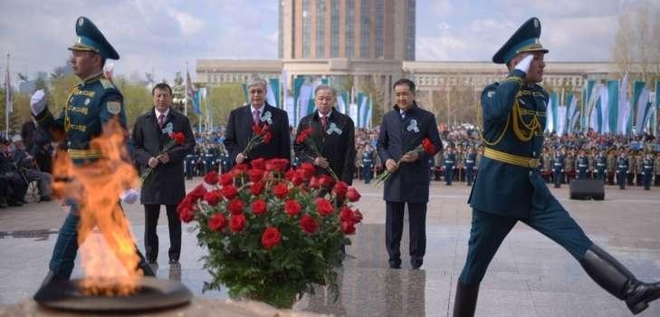 Астана, Вечный огонь, 9 мая 2018 года