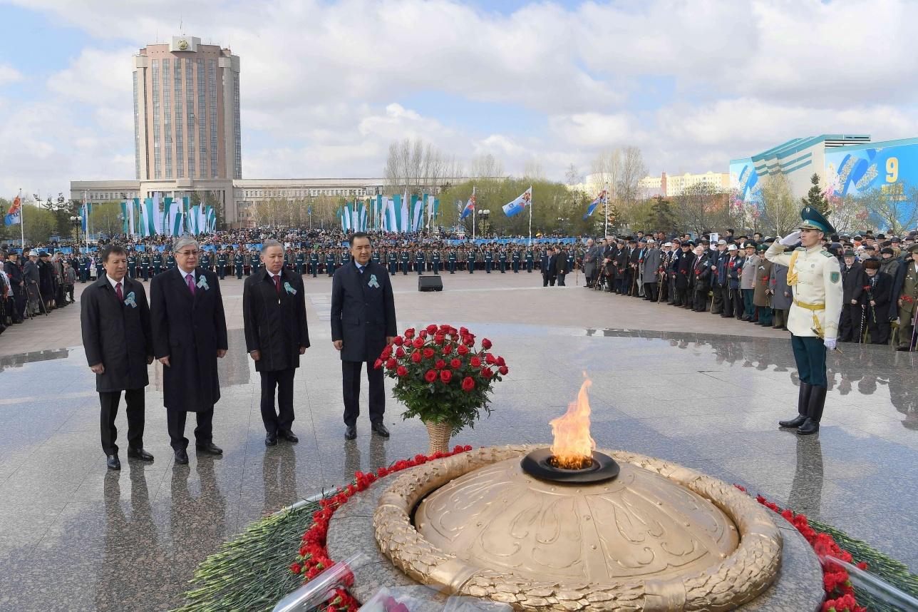 В Астане почтили память павших в годы войны