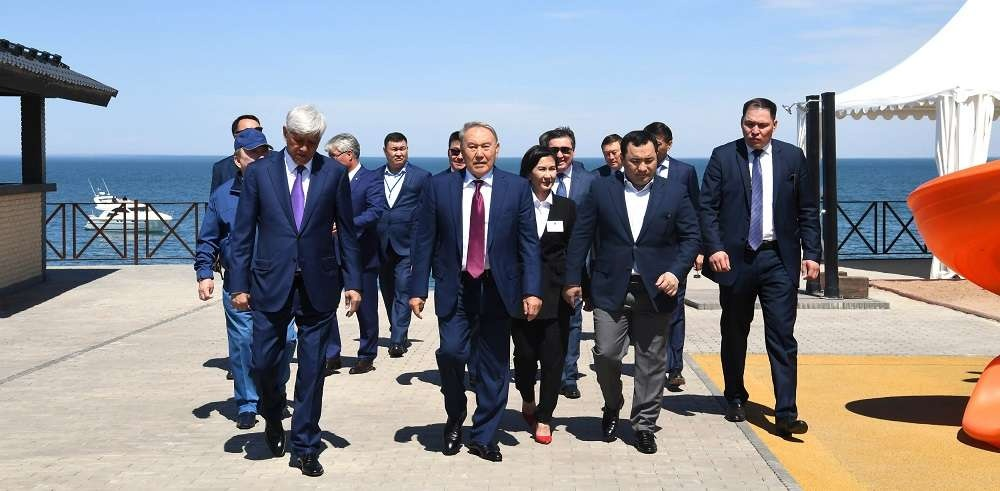 Нурсултан Назарбаев в ходе рабочей поездки в Алматинскую область
