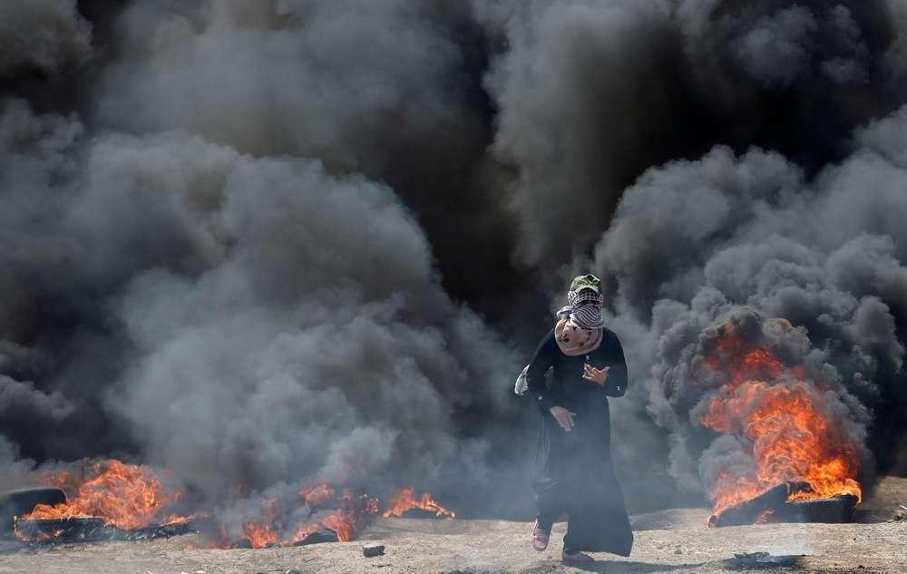 Столкновения в секторе Газа усилились после переноса посольства США в Иерусалим