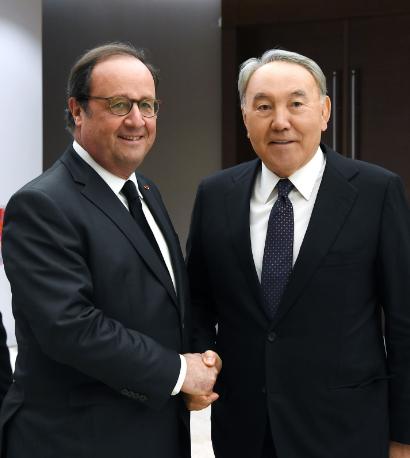 Нурсултан Назарбаев и бывший президент Франции