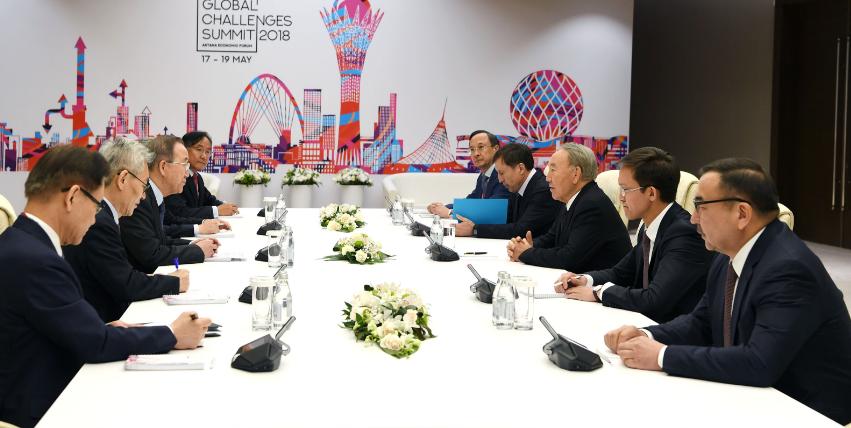 Встреча Нурсултана Назарбаева с Пан Ги Муном