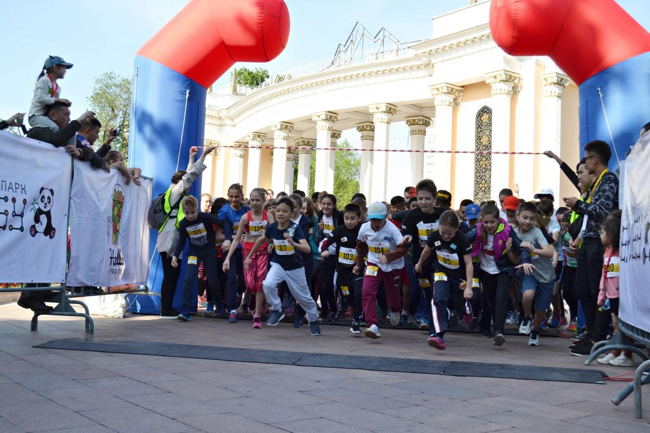 Первый детский забег прошёл в Алматы