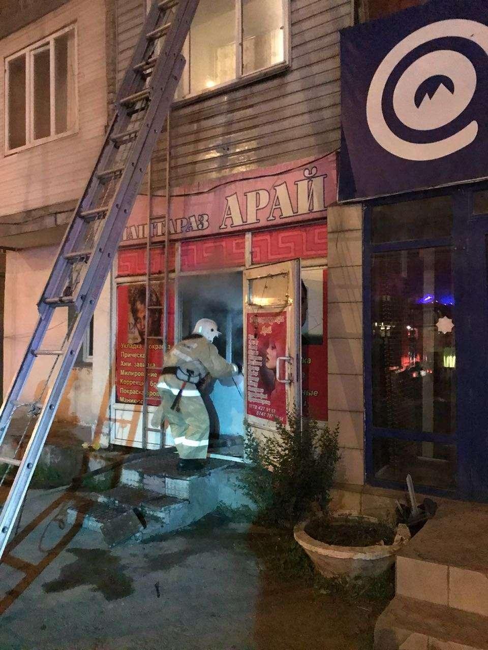 Пожар произошёл в парикмахерской