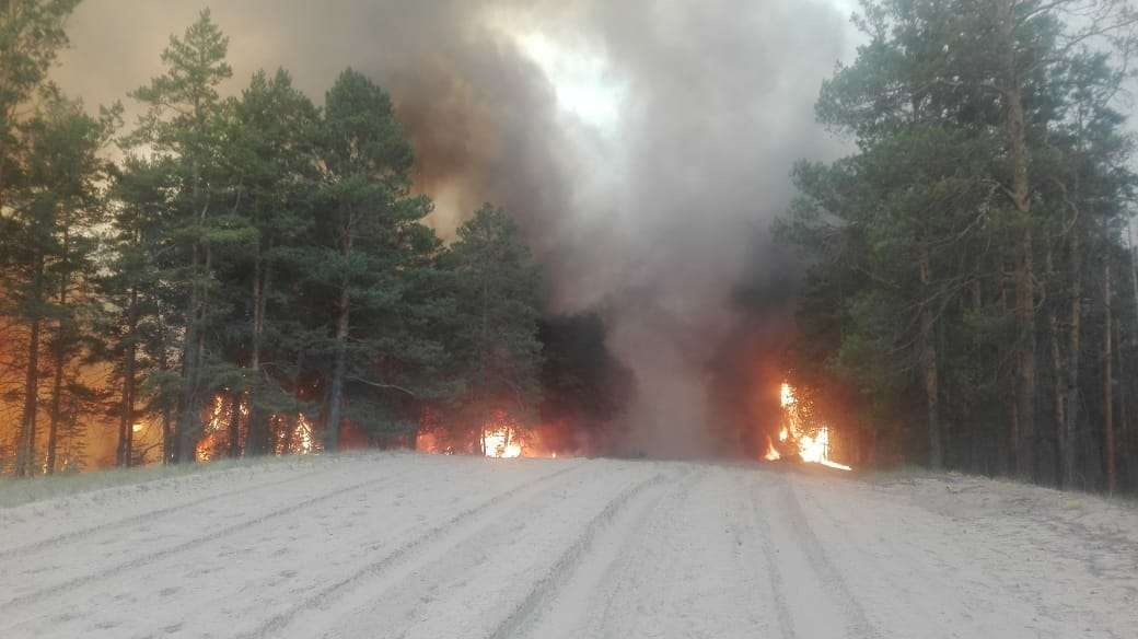 Для помощи к тушению лесного пожара направлены 2 водовоза из Зеленстроя