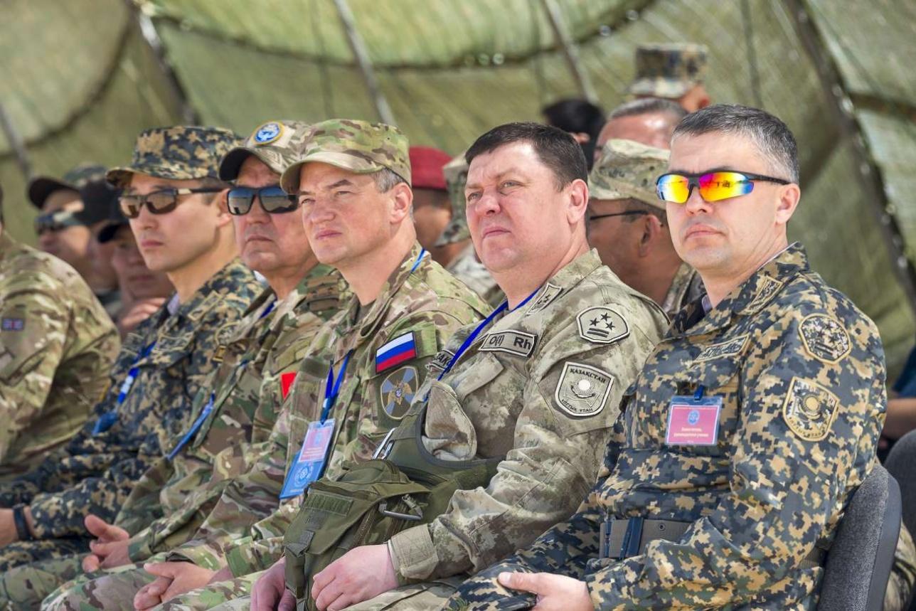 За ходом активной фазы учений наблюдают представители Национальных контингентов