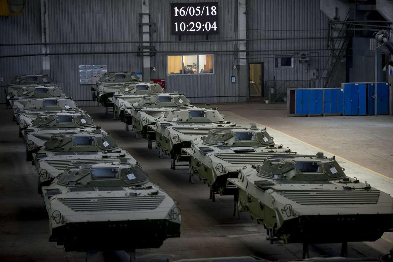 Бронекорпуса БМП подготовленные к сборке
