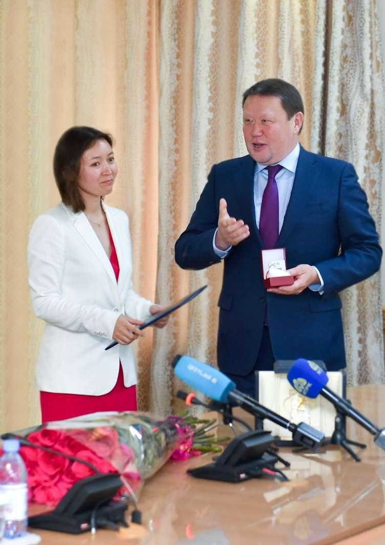Самал Еслямова на встрече с акимом СКО