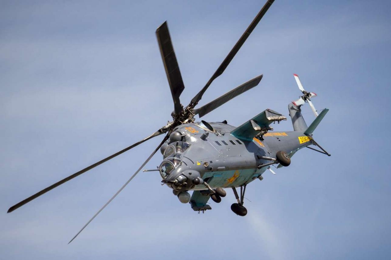 Сложный пилотаж на Ми-35М