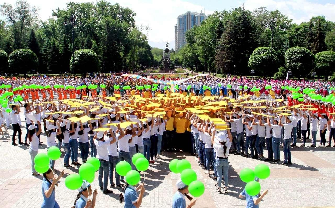 Флешмоб в Алматы