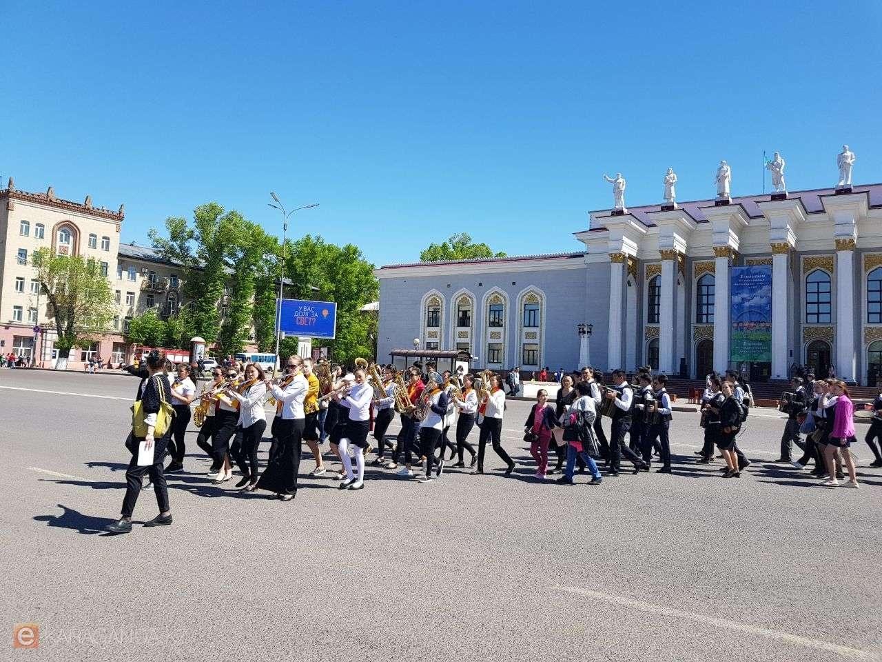 Парад ко Дню защиты детей в Караганде