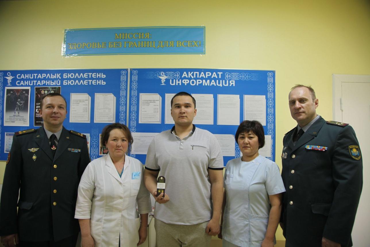 """Сырыму Сундетову присвоили звание """"лейтенант"""""""
