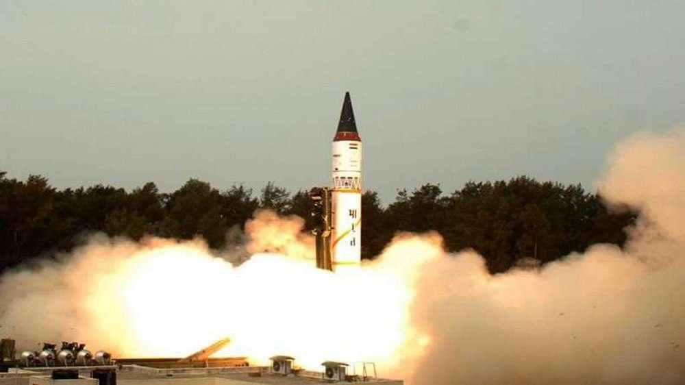 """Запуск ракеты """"Агни-5"""""""