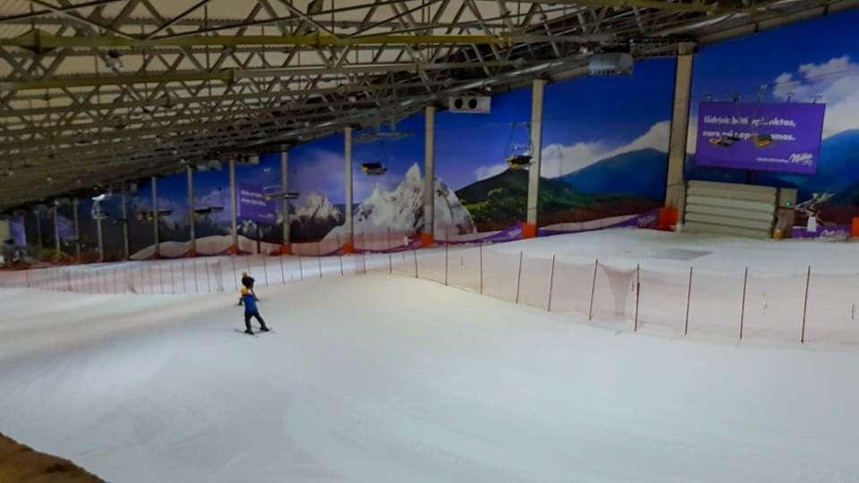 Лыжный спуск в Snow Arena