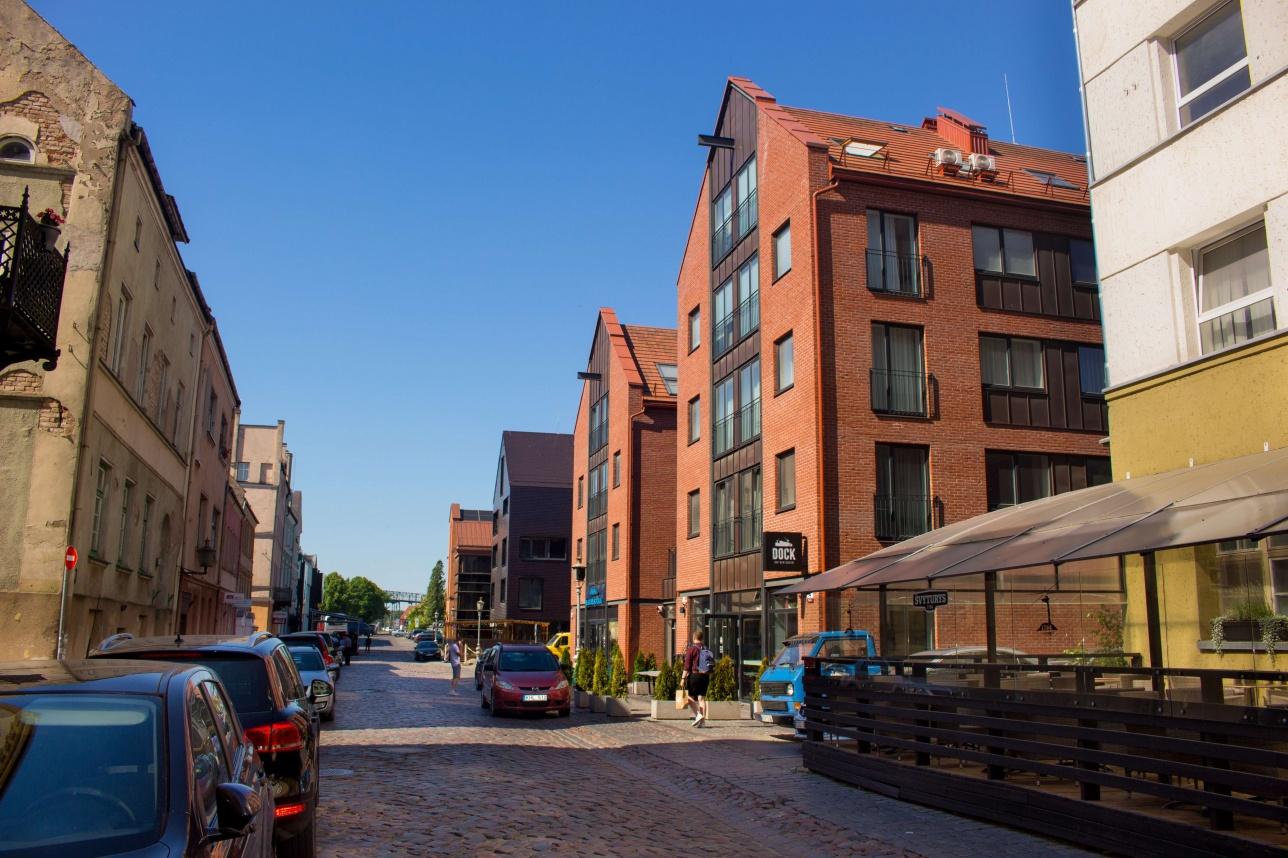 Улицы Клайпеды пересекаются под прямым углом