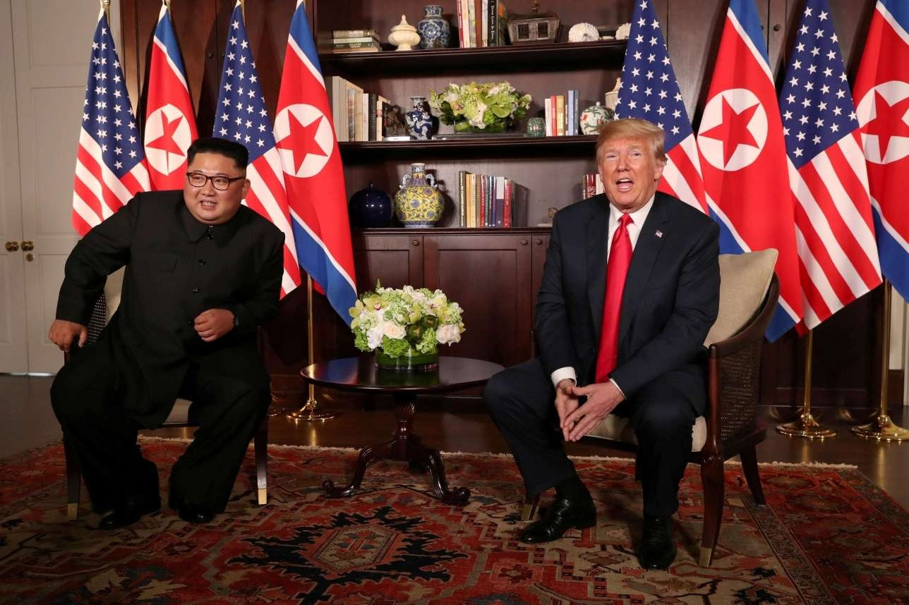 Дональд Трамп и Ким Чен Ын встретились в Сингапуре