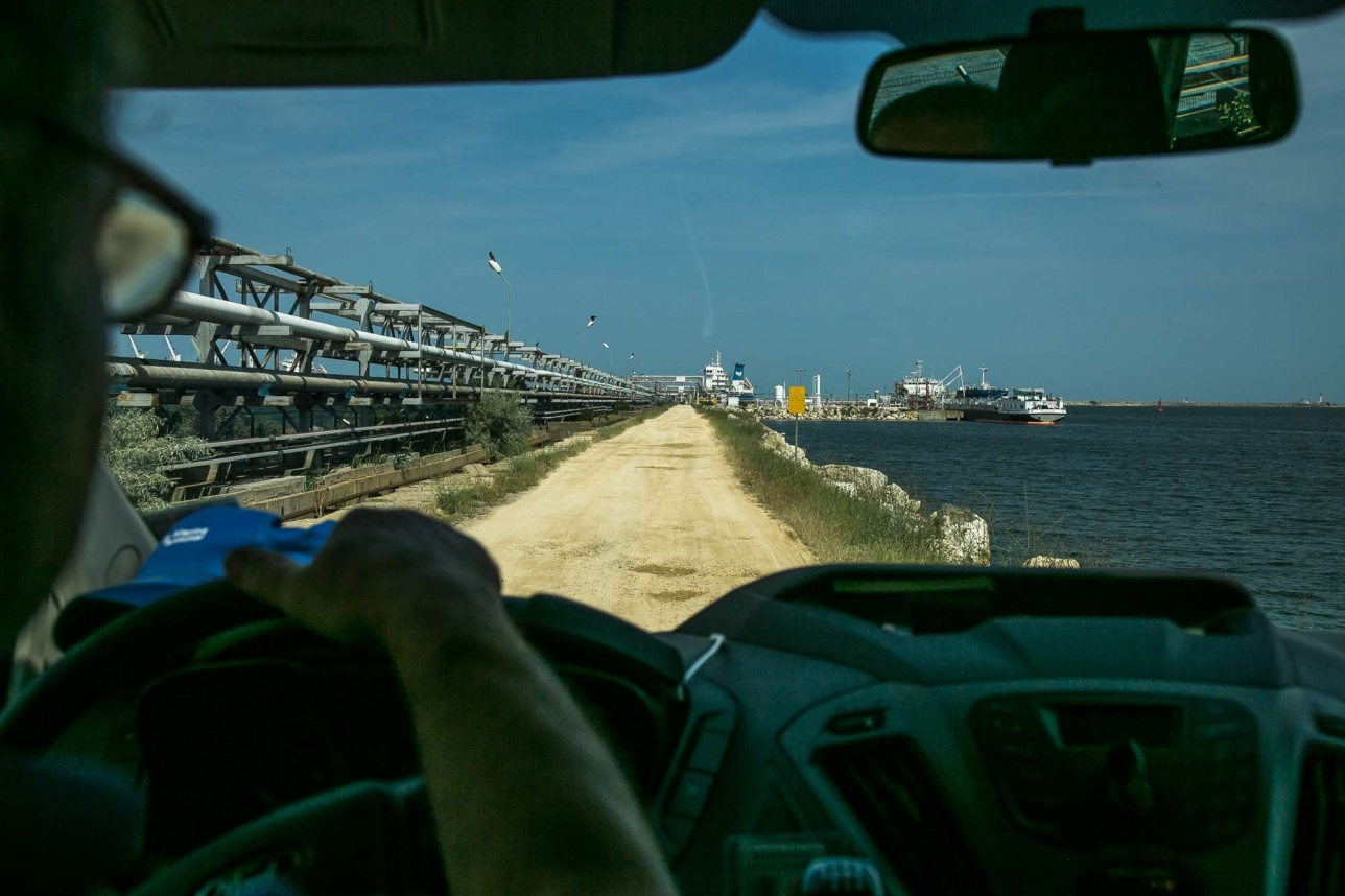 По дороге в Midia Marina Terminal