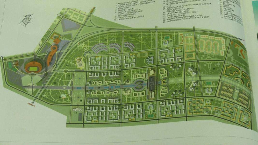 Проект нового административного центра Туркестана
