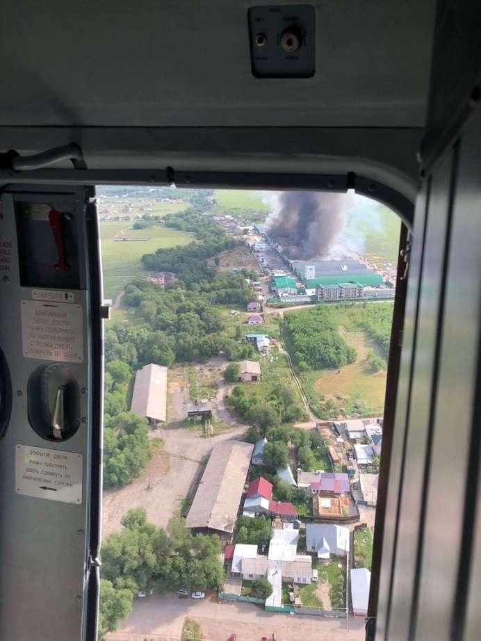 Площадь пожара, по предварительным данным, составляет 3000 квадратных метров