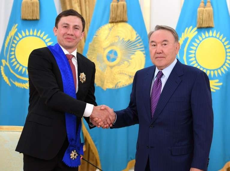 Головкин получил награду от Президента