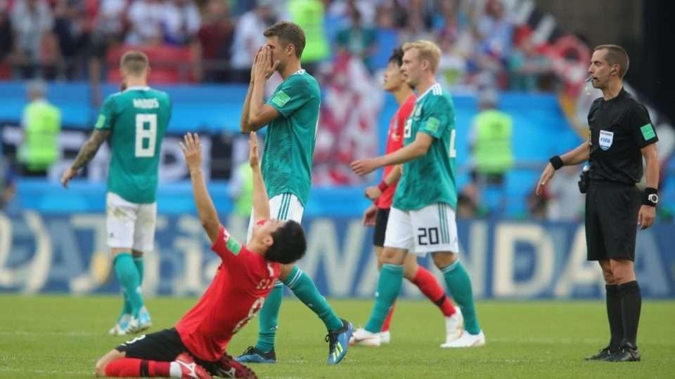 Германия футболшыларының соңғы минуттарда босаңсып, Оңтсүтік Кореядан есе жіберген сәтінен