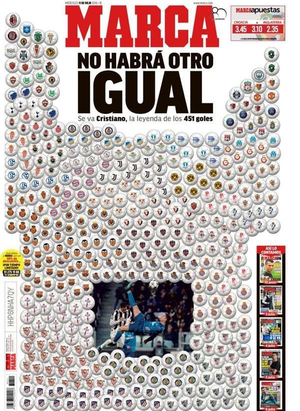 Обложка газеты Marca (номер от 11 июля 2018 года)