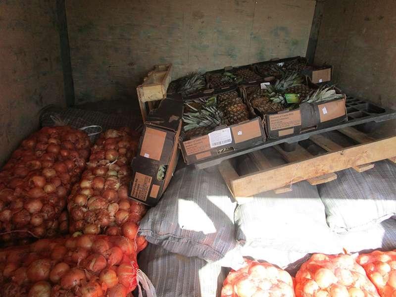 Картофель, лук и ананасы уничтожены на свалке