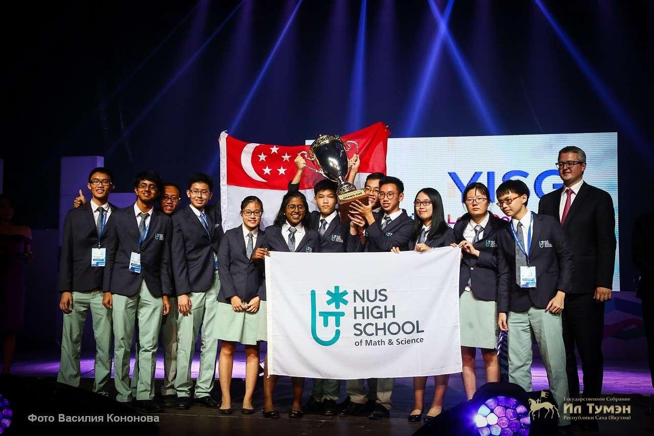 Школьники из Сингапура заняли первое место