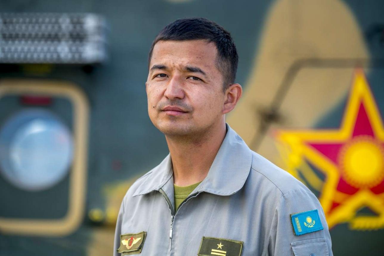 Ерлан Омаров, командир авиационного звена в/ч 55652, майор