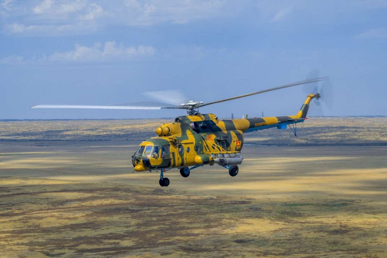 Ми-171Ш выполняет воздушную разведку