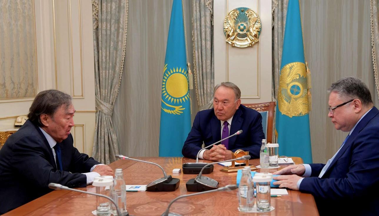 Встреча Нурсултана Назарбаева с Олжасом Сулейменовым