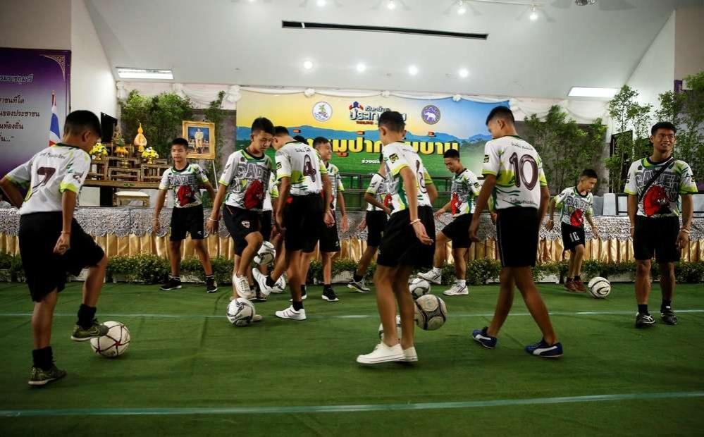 Свою физическую форму показали юные футболисты