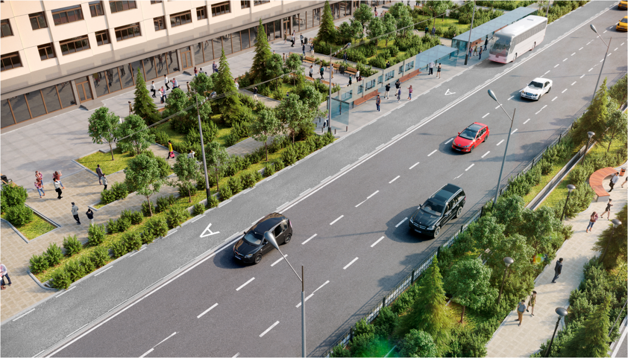 Улицу Желтоксан реконструируют от улицы Сатпаева до проспекта Абая