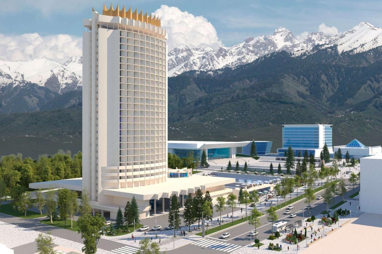 "Вид на гостиницу ""Казахстан"""