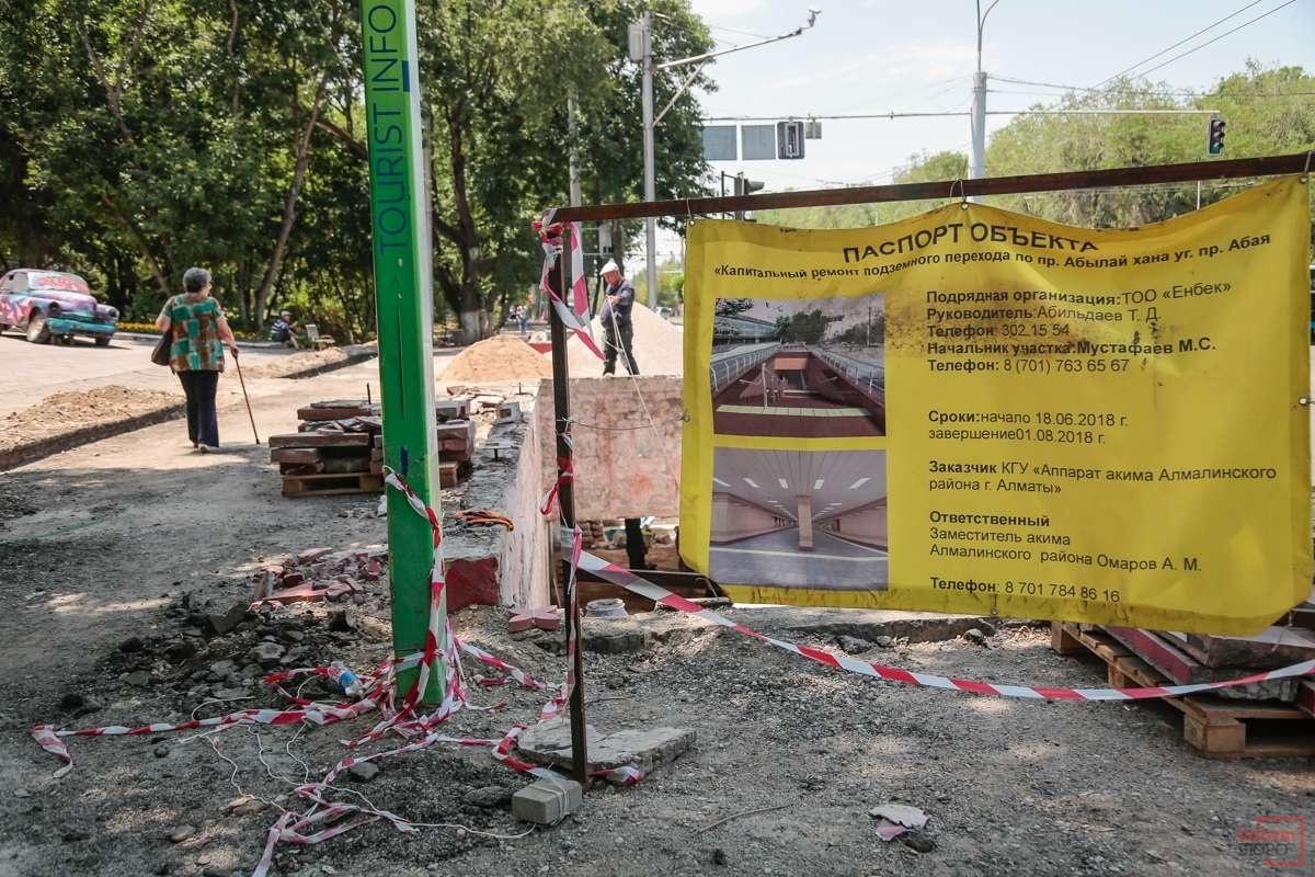 В Алматы реконструируют улицы