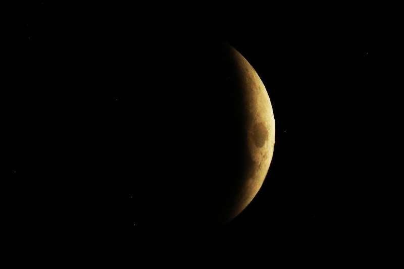 Полное затмение Луны от начала до самого конца можно наблюдать на территории всего Казахстана, кроме востока