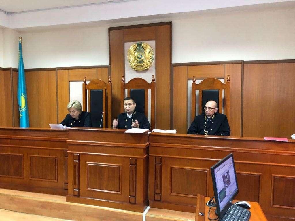 Апелляционная коллегия Алматинского горсуда Аида Абилмажинова, Жолымбет Баишев и Сергей Лобач
