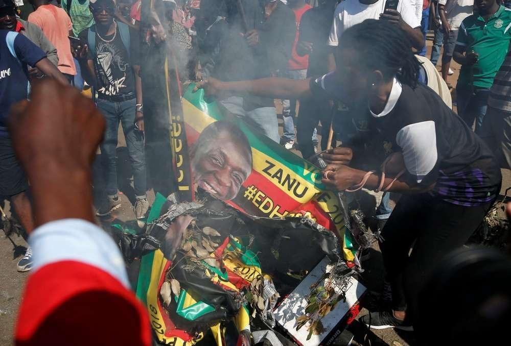 Акция протестов в Зимбабве