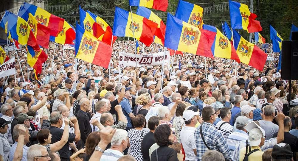 Антиправительственная акция протеста прошла в Кишинёве