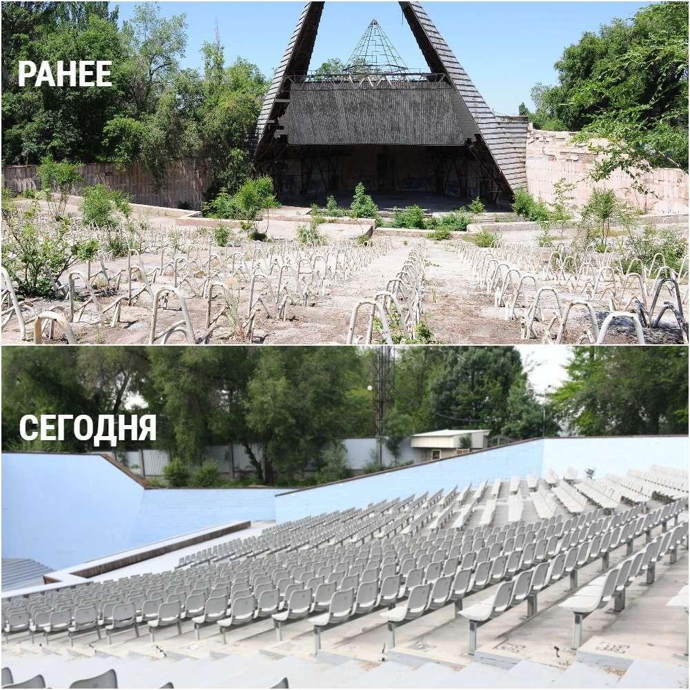 Благоустройство центрального парка Алматы продолжается