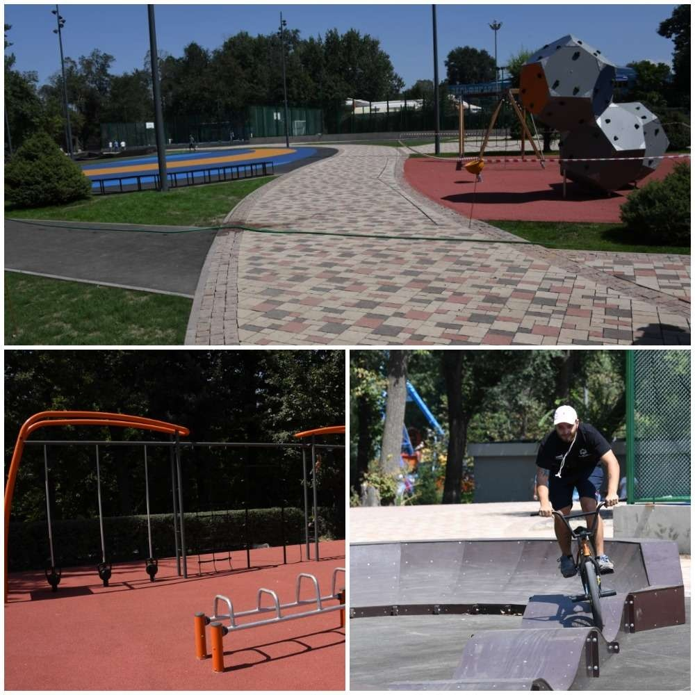 Роллердром и площадка для стрит-воркаута уже появились в центральном парке