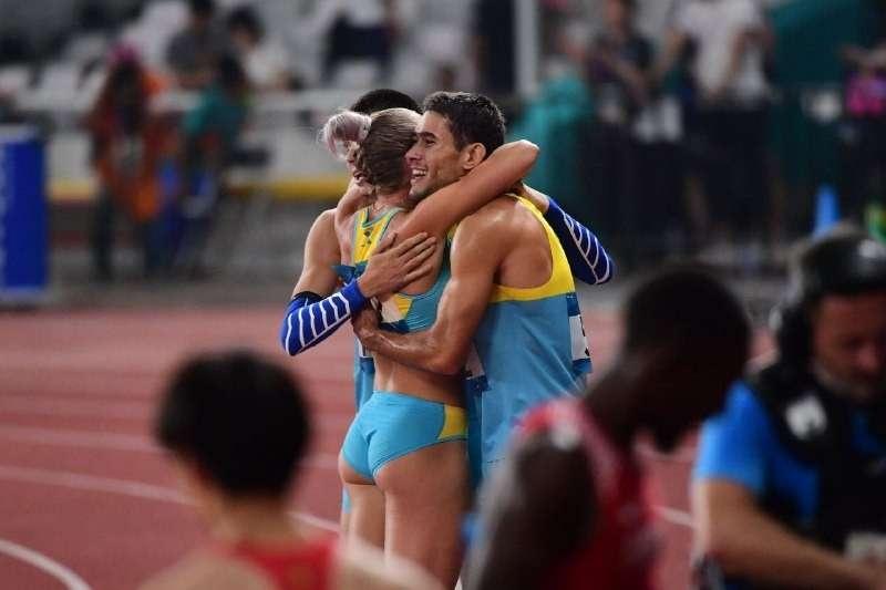 Радость казахстанских легкоатлетов