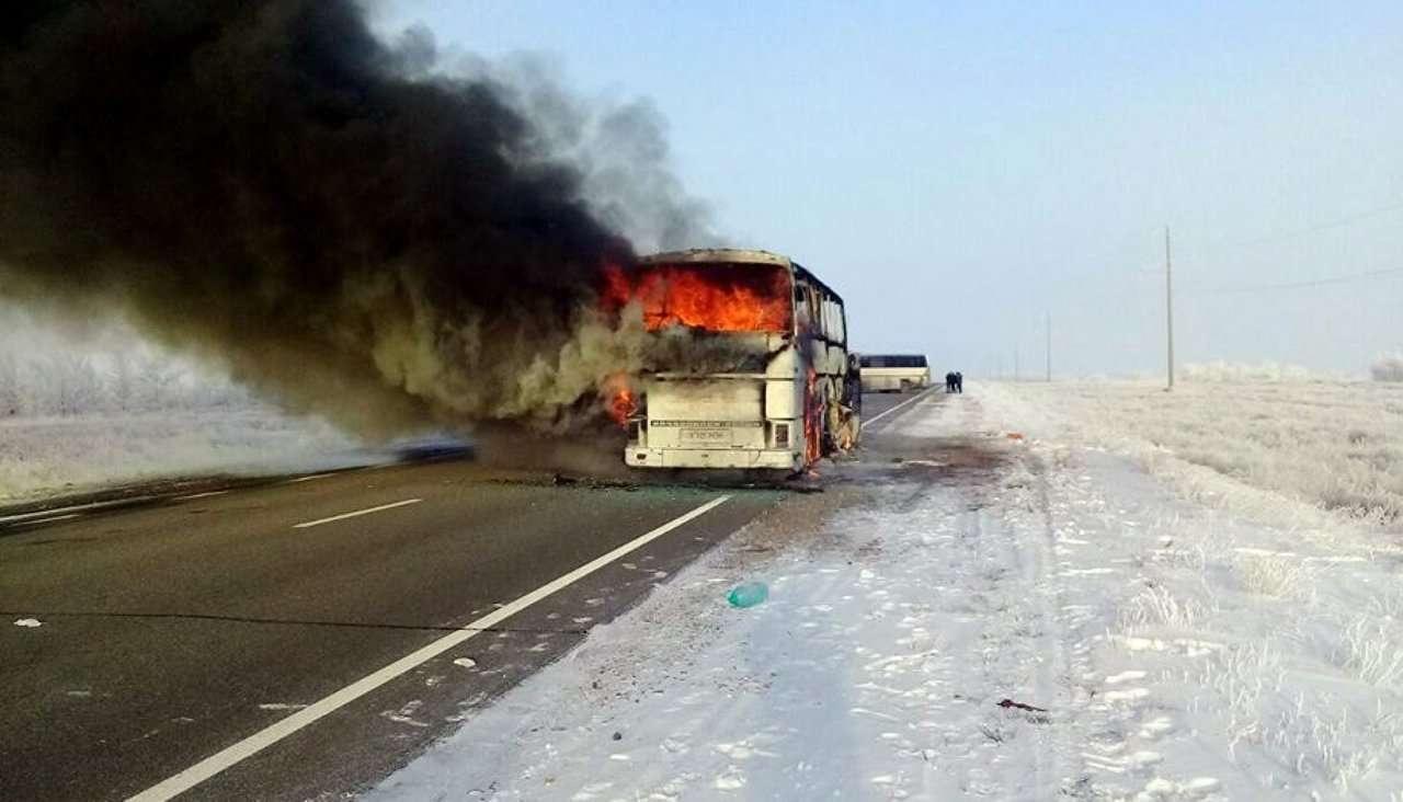 Ішінде өзбек жолаушылары бар автобус Ресей Федерациясының Қазан қаласына бара жатқан