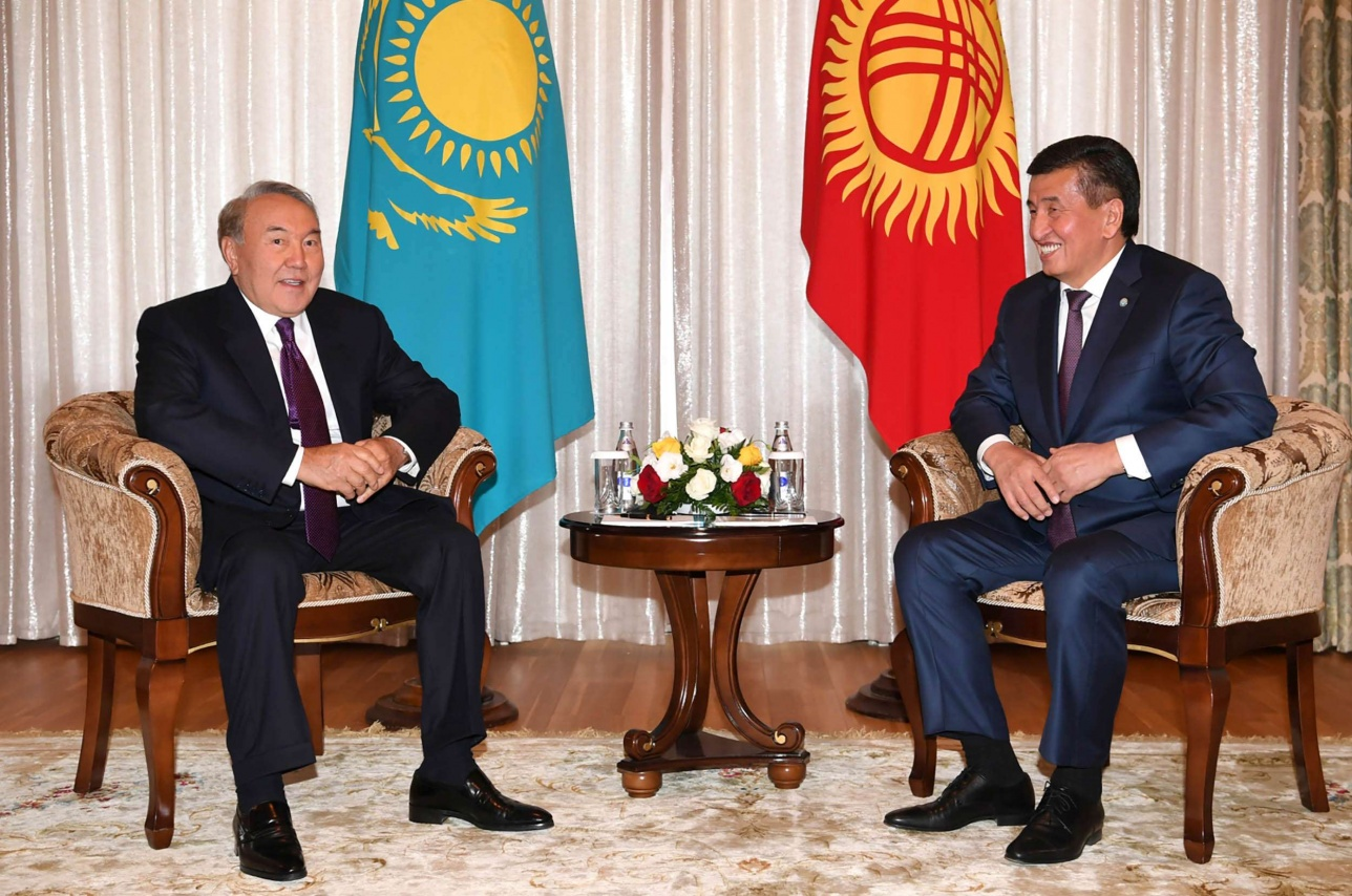 Назарбаев встретился с Жээнбековым